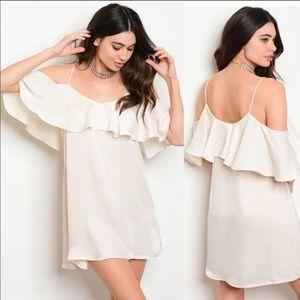 Dresses & Skirts - 😍Cream Color Comfy Chic Dress